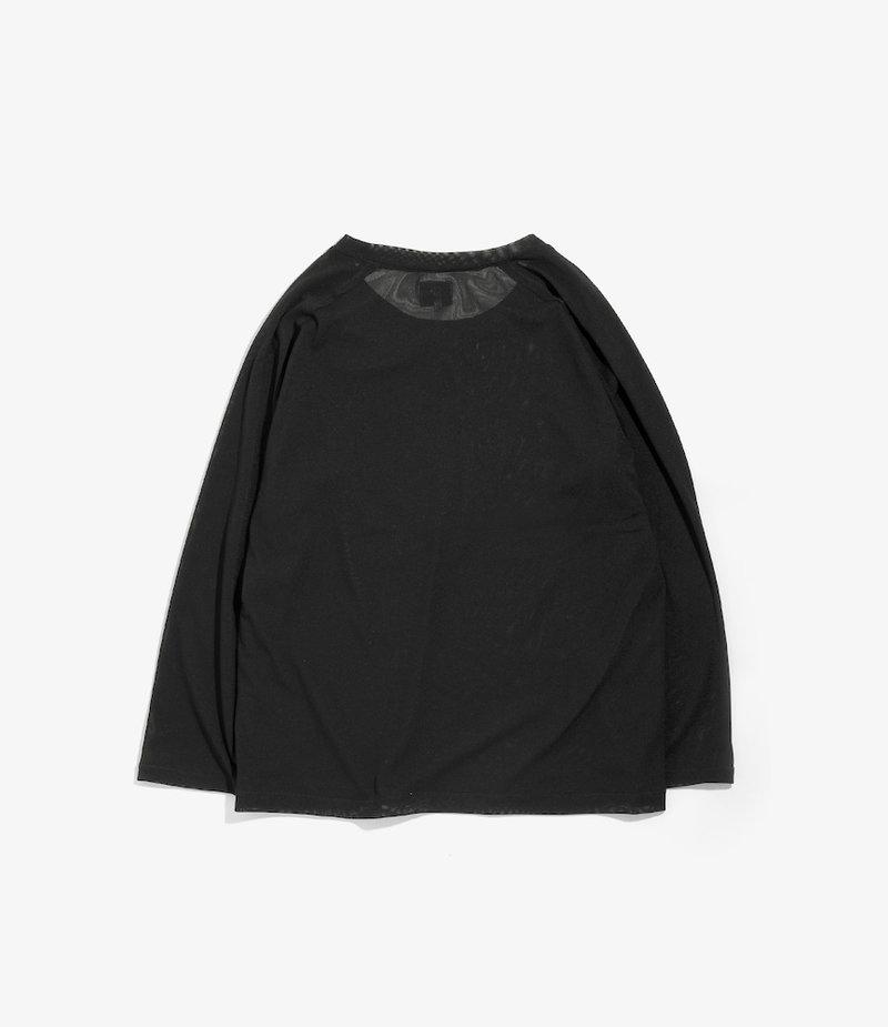 Needles L/S U Neck Tee - Poly Jersey - Black