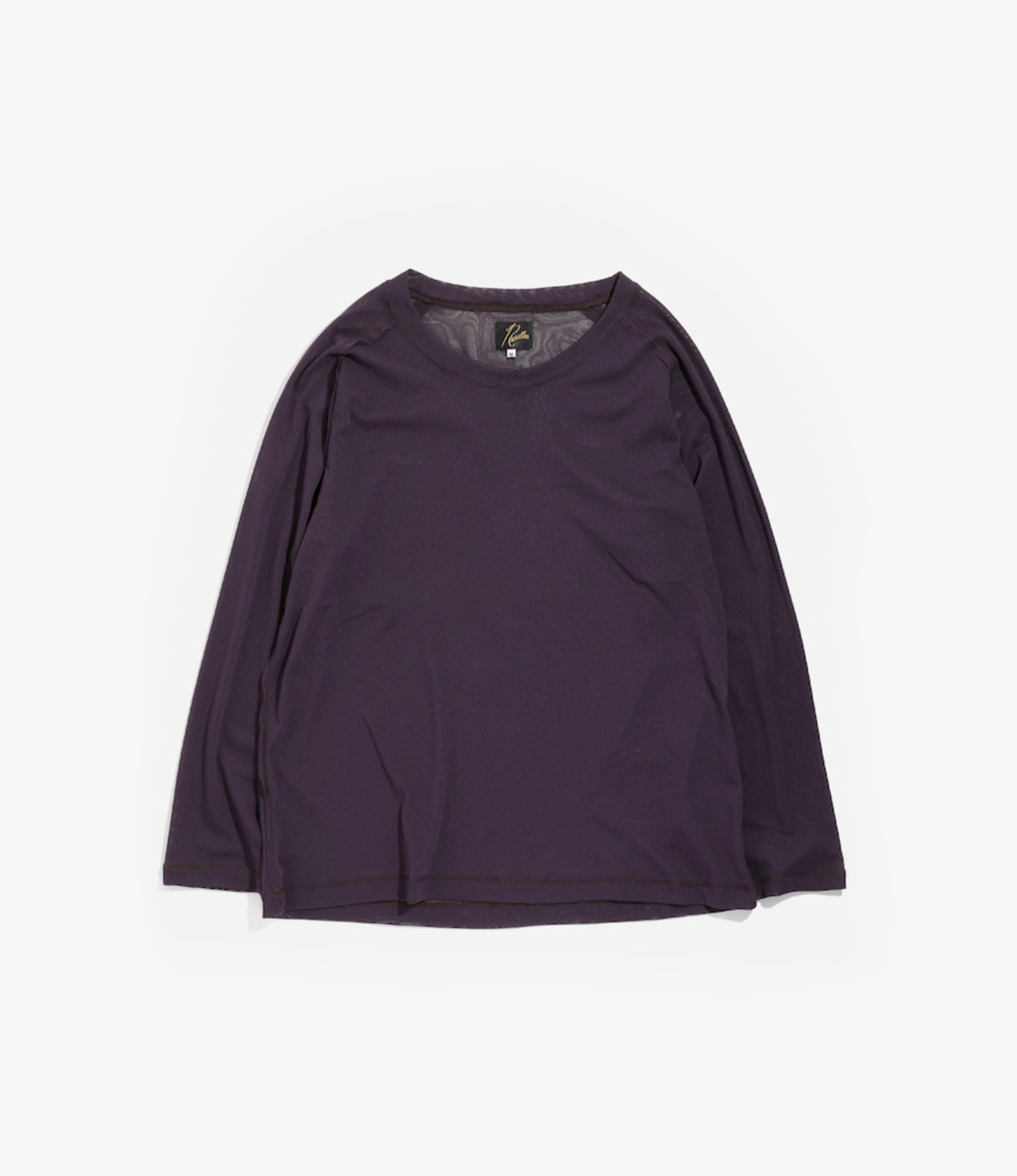 Needles L/S U Neck Tee - Poly Jersey - Purple