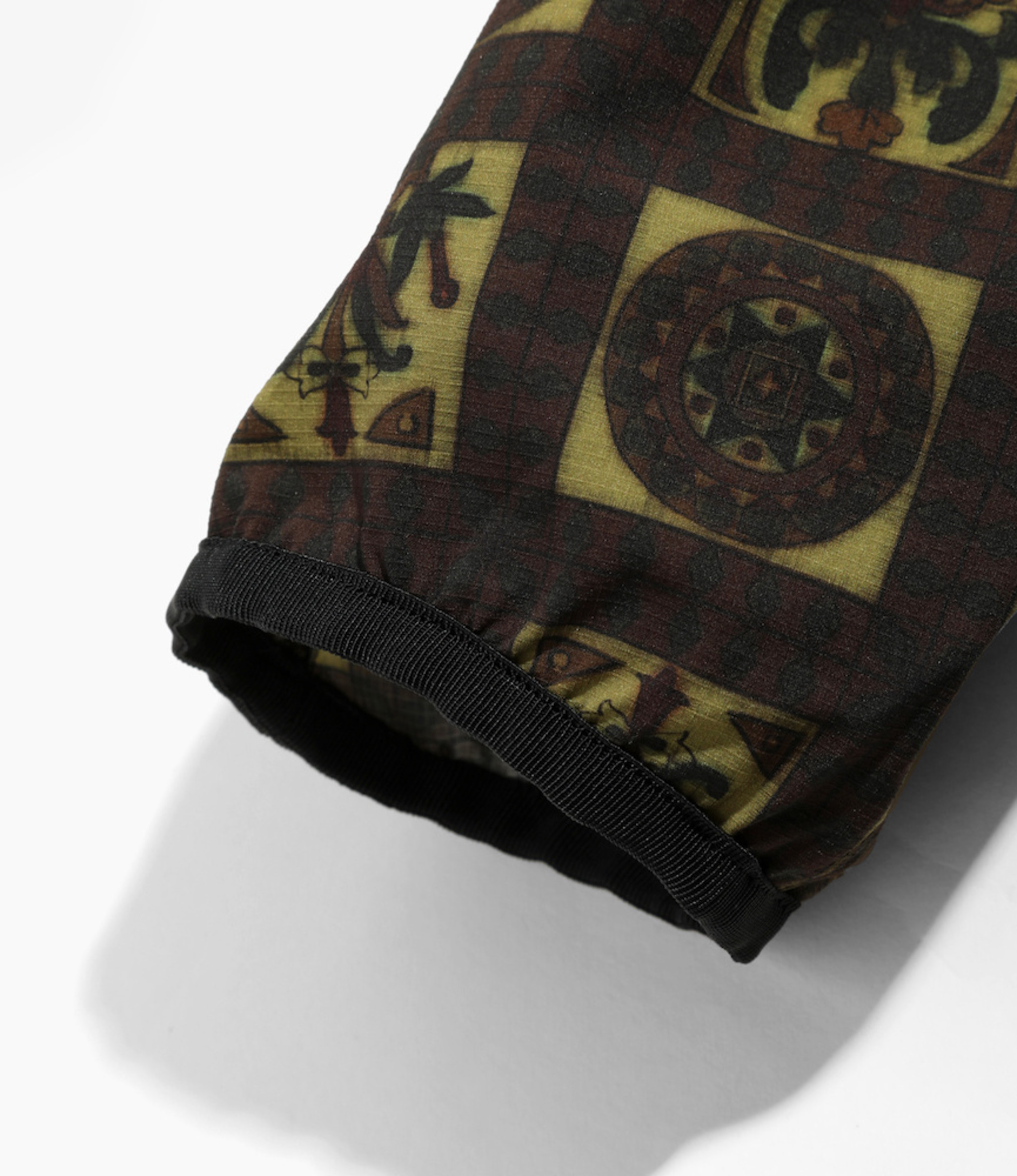 Needles Warm-up V Neck Jac - Poly Ripstop / Print - Olive