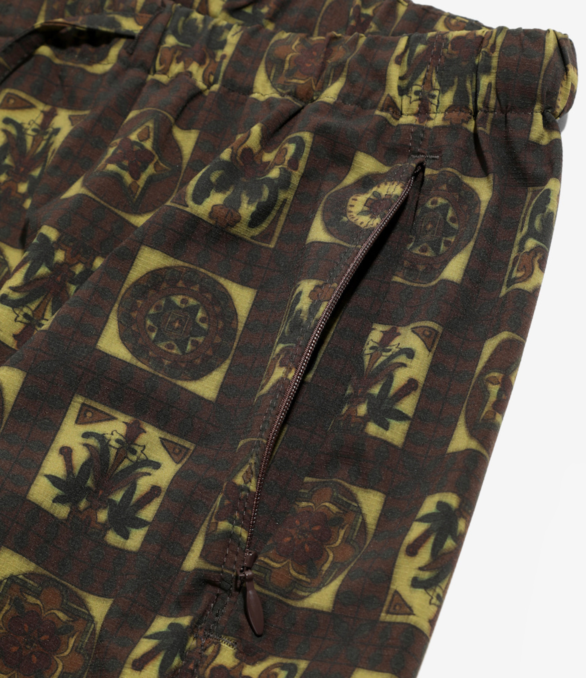 Needles Seam Pocket Pant - Poly Ripstop / Print - Olive