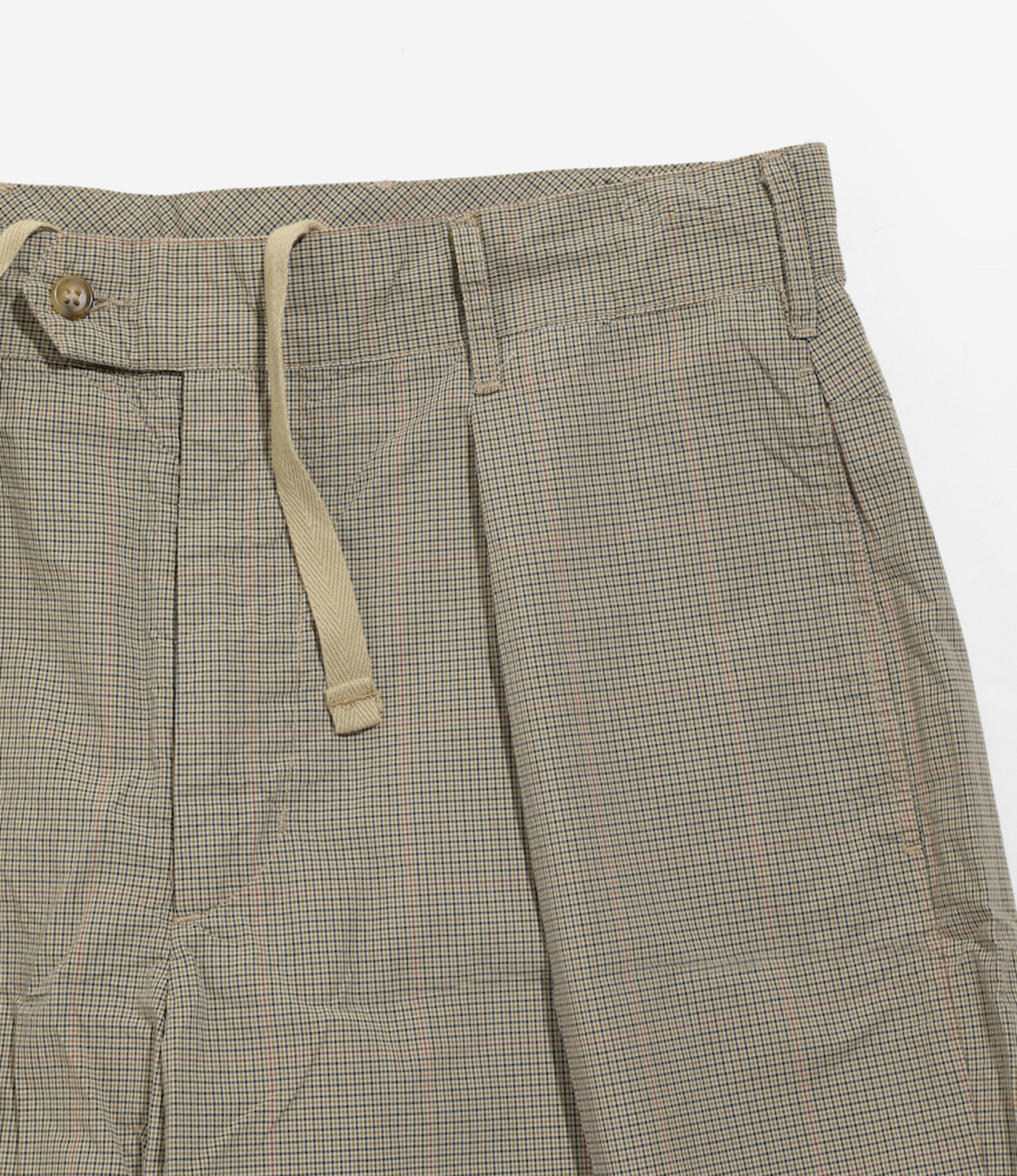Engineered Garments Sunset Short - Khaki Nyco Mini Tattersall