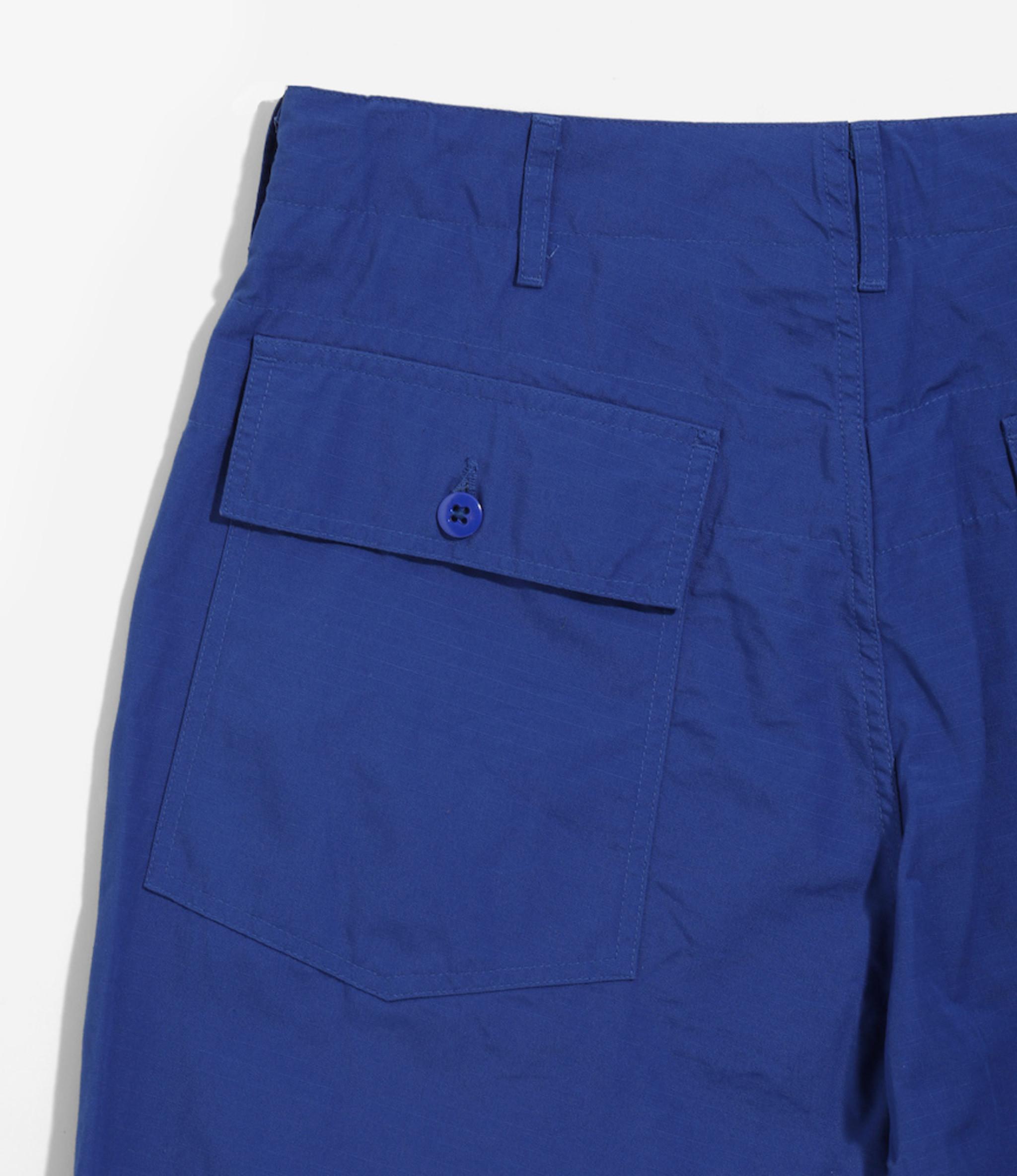 Engineered Garments Fatigue Short - Royal Cotton Ripstop