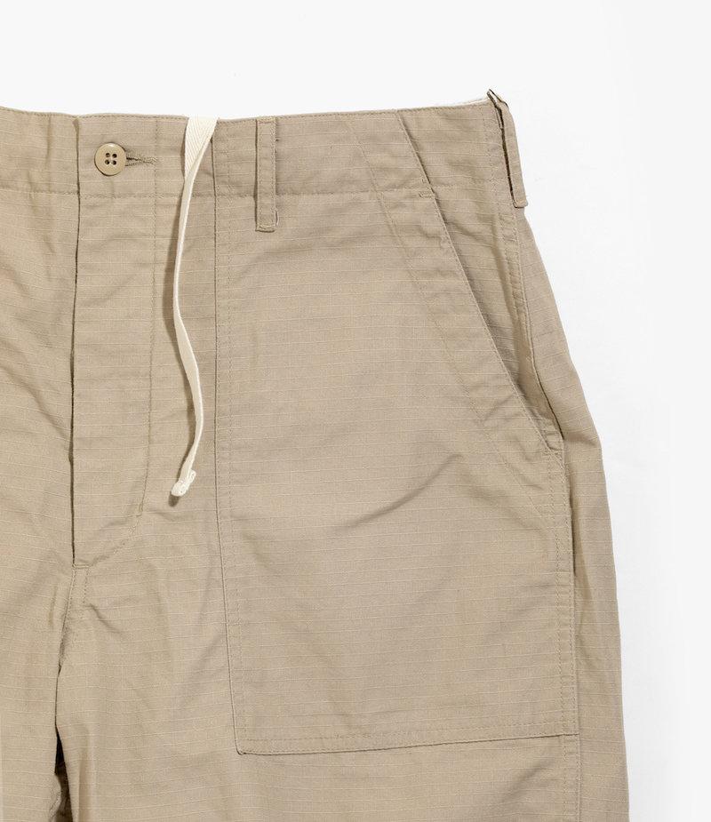 Engineered Garments Fatigue Short - Khaki Cotton Ripstop