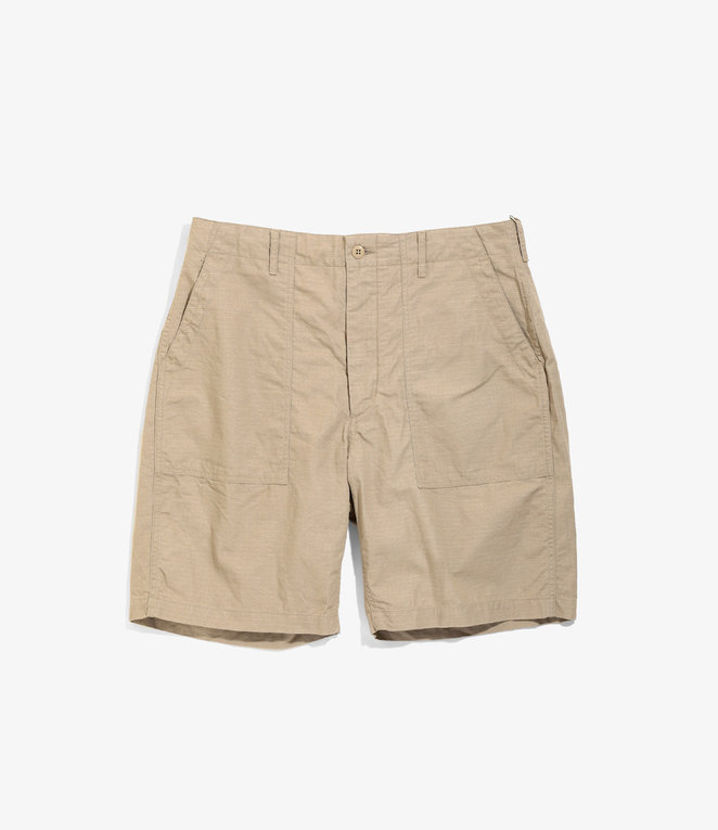 Engineered Garments Fatigue Short - Khaki Cotton Ripstop