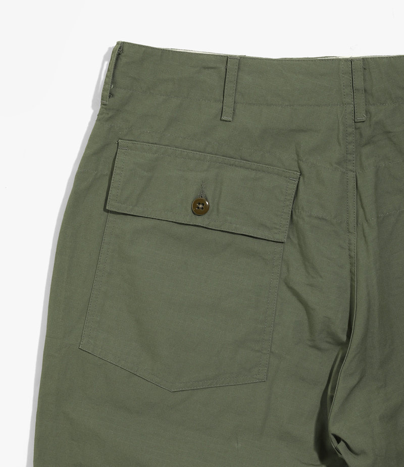 Engineered Garments Fatigue Short - Olive Cotton Ripstop