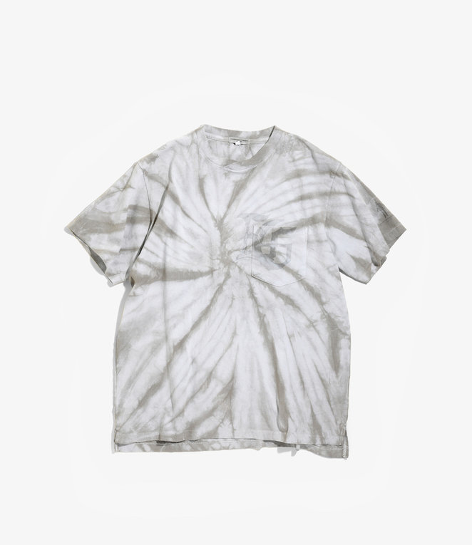 Engineered Garments Cross Crew Neck Tie Dye T - Grey SP