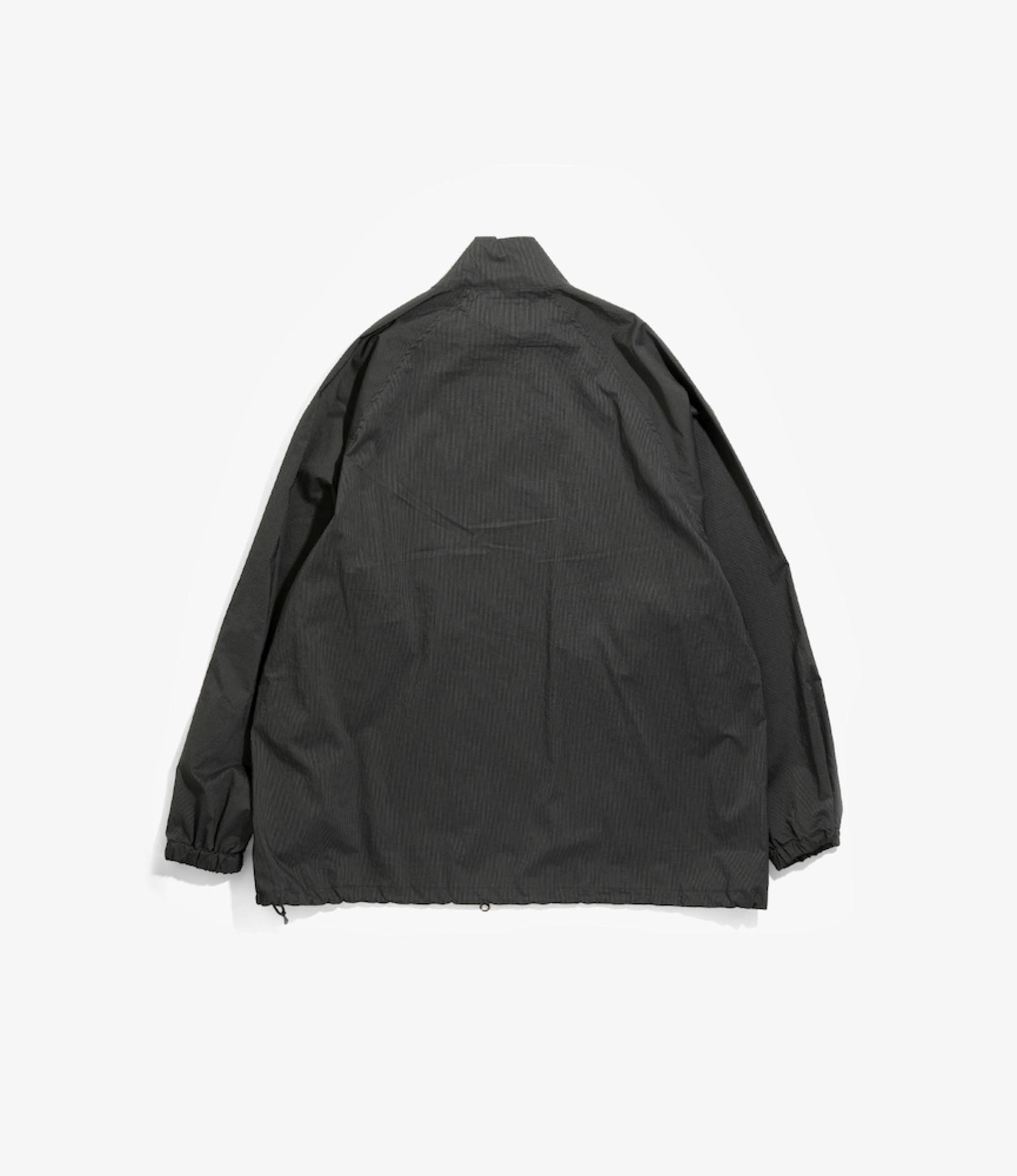 Needles Jog Jacket - Nylon Iridescent Stripe - Charcoal
