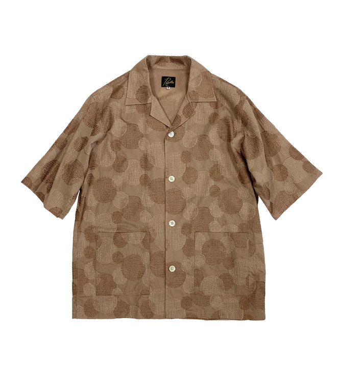 Needles Cabana Shirt - Cotton Cloth / Polka Dot Emb. - Mocha