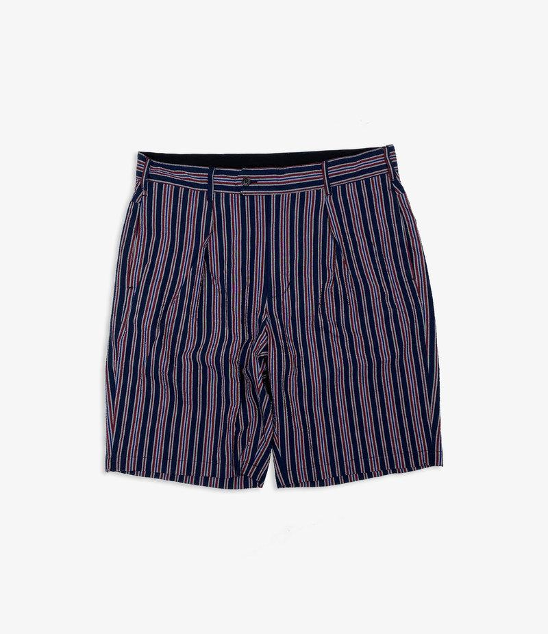 Engineered Garments Sunset Short - Navy/Red Seersucker Alternate Stripe
