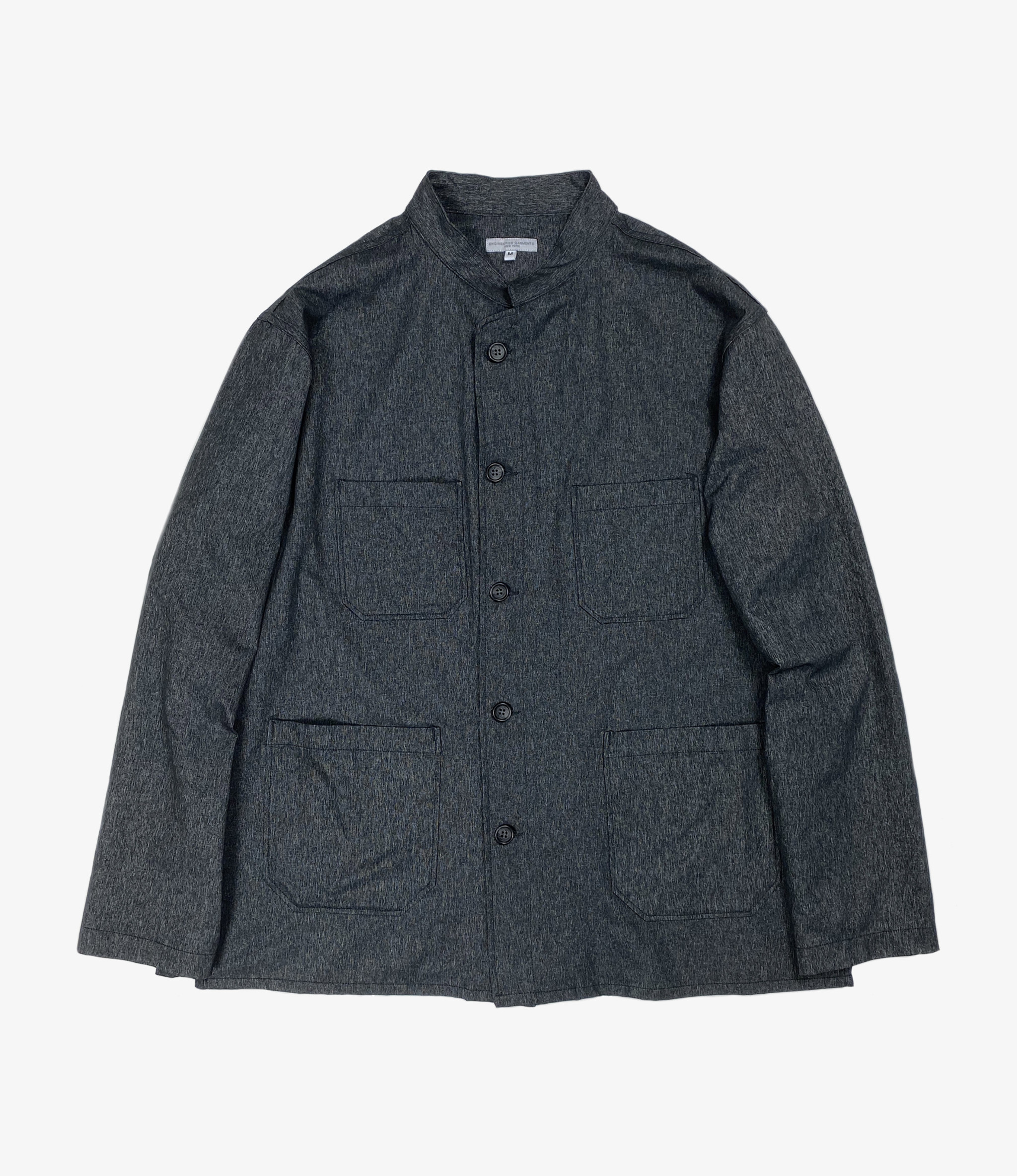 Engineered Garments Dayton Shirt - Heather Charcoal Polyester Microfiber