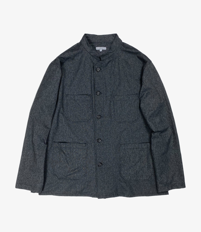 Engineered Garments Dayton Shirt - Heather Charcoal Polyester Microfiber