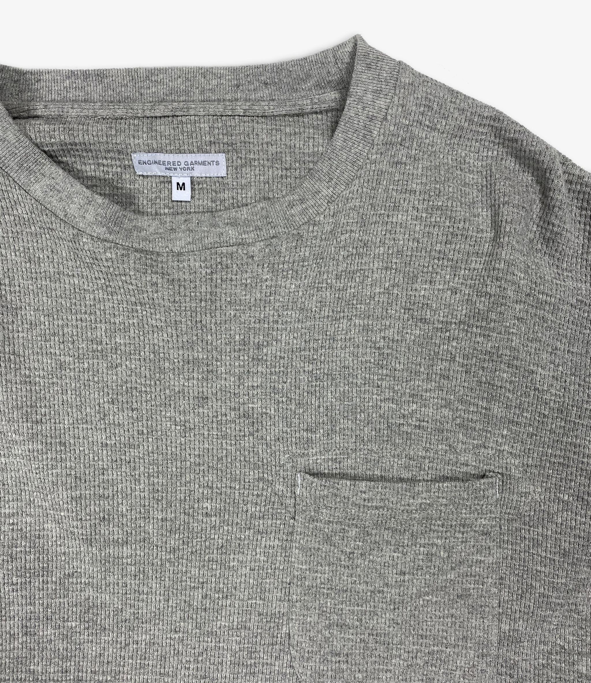 Engineered Garments LS Crewneck Shirt - Grey CP Thermal Knit