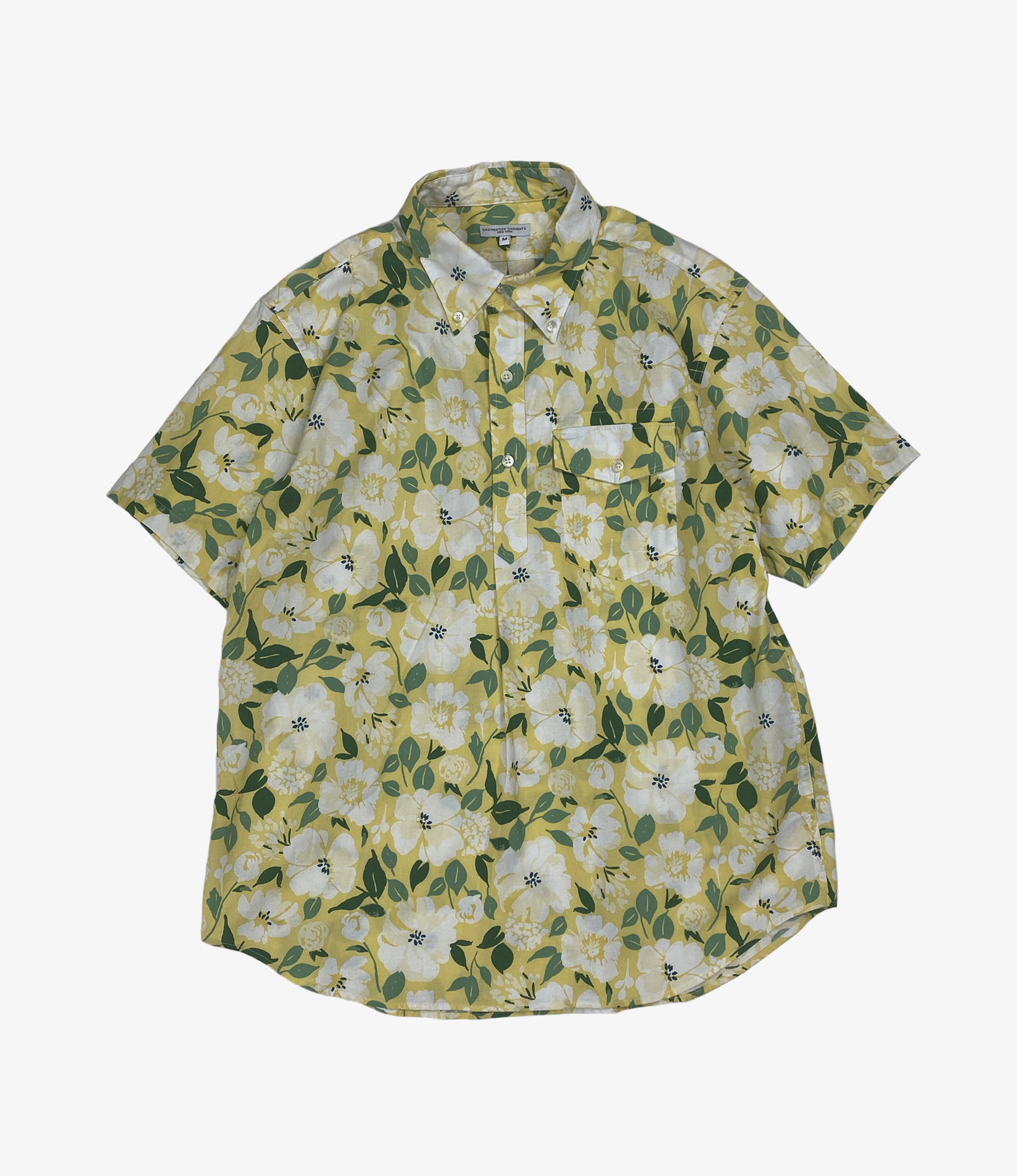 Engineered Garments Popover BD Shirt - Yellow Cotton Floral Print