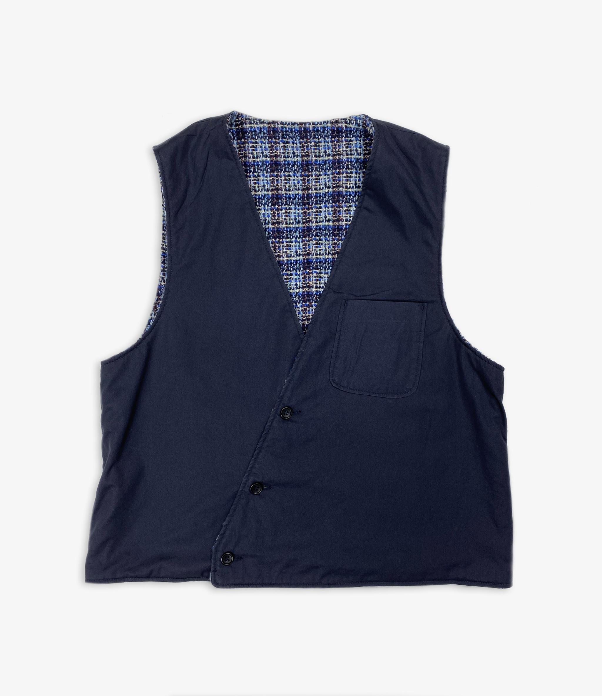 Engineered Garments Reversible Vest - Dk.Navy High Count Twill