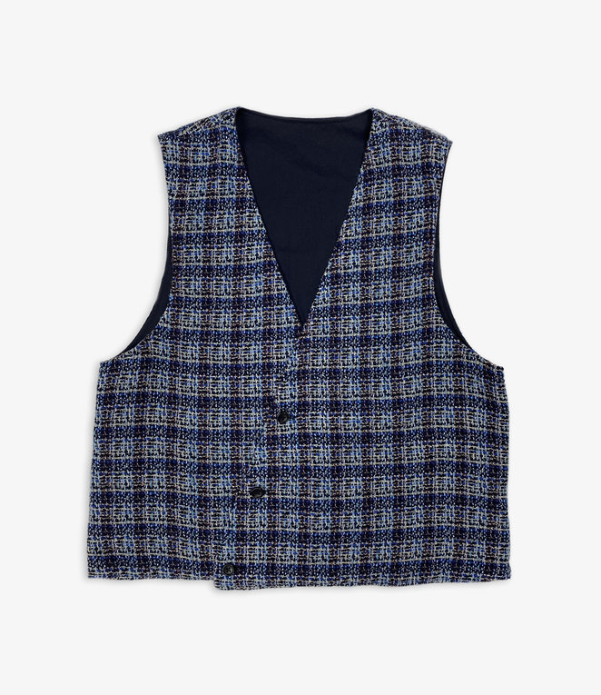 Engineered Garments Reversible Vest - Dk.Navy High Count Twill