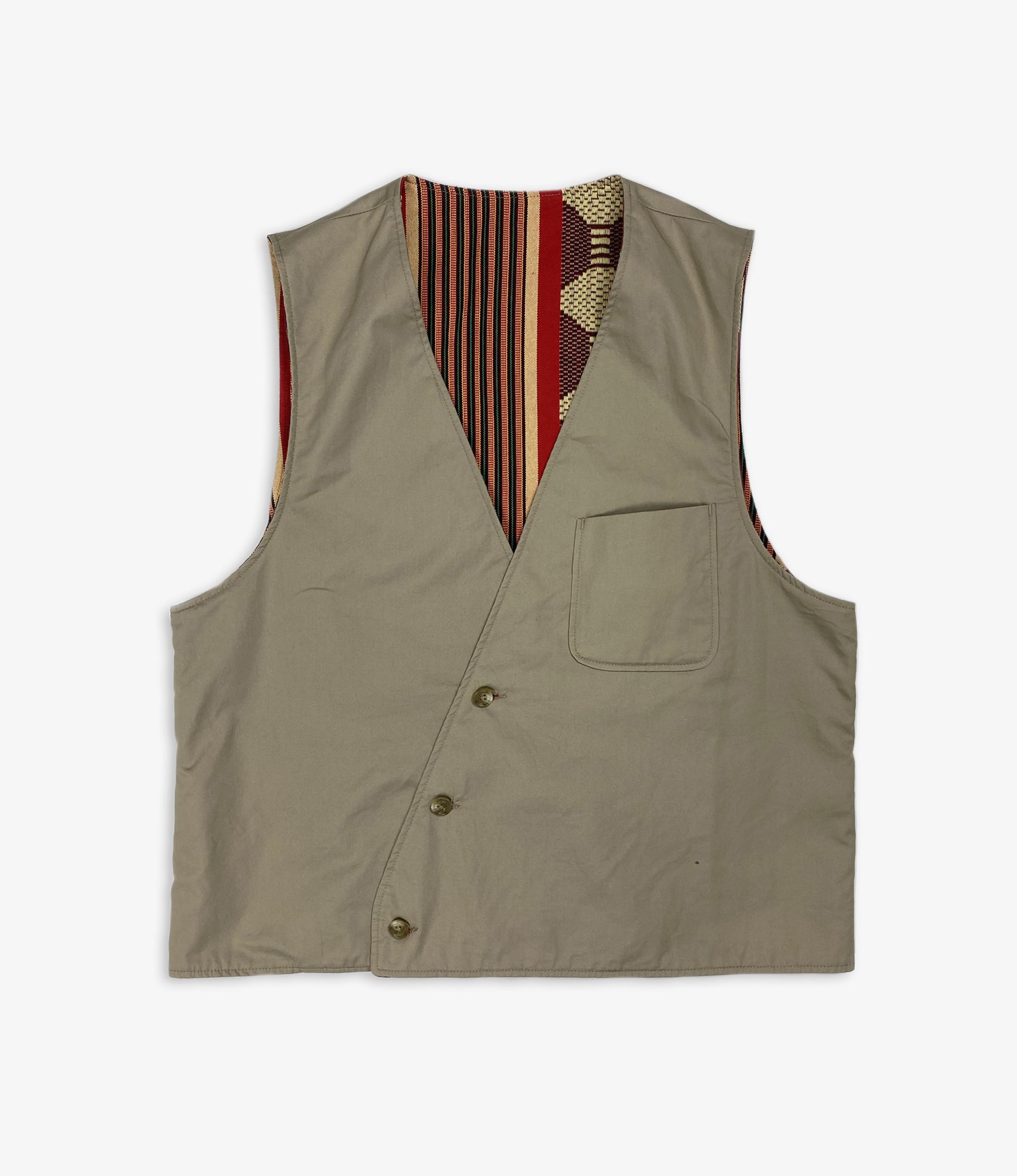 Reversible Vest - Khaki High Count Twill