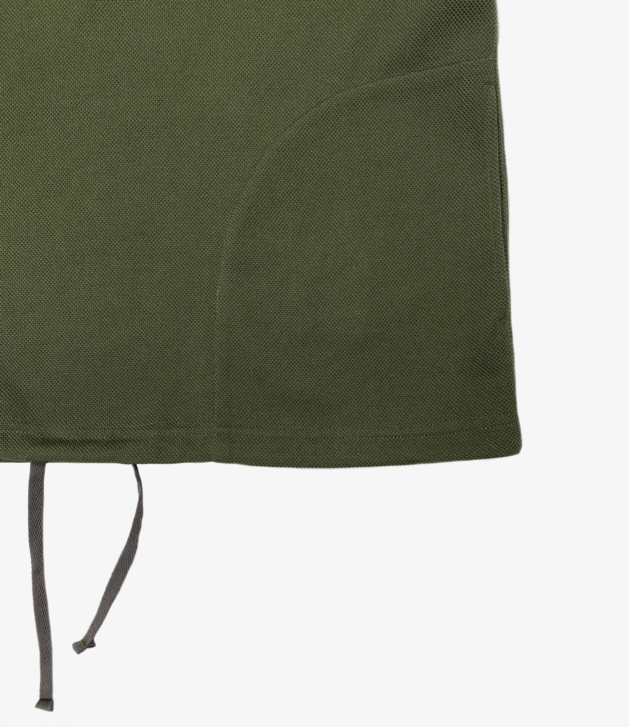 Engineered Garments Short Sleeve Hoody - Olive Diamond Poly Knit