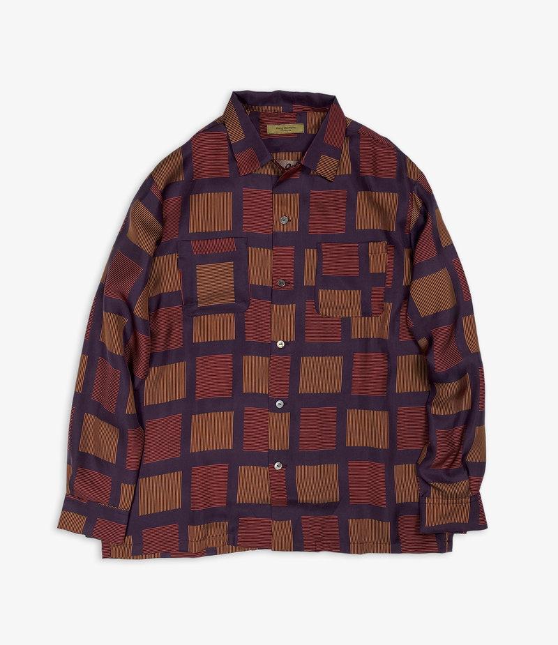 Wang Chomphu Silk LS Shirt / Pokcorpaa Yaw - Siam Plaid
