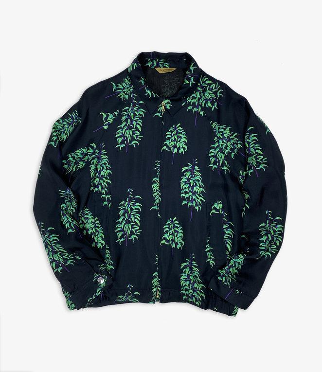 Wang Chomphu Silk Swing Top Jacket / Sure Klum - Strongylodon Macrobotrys