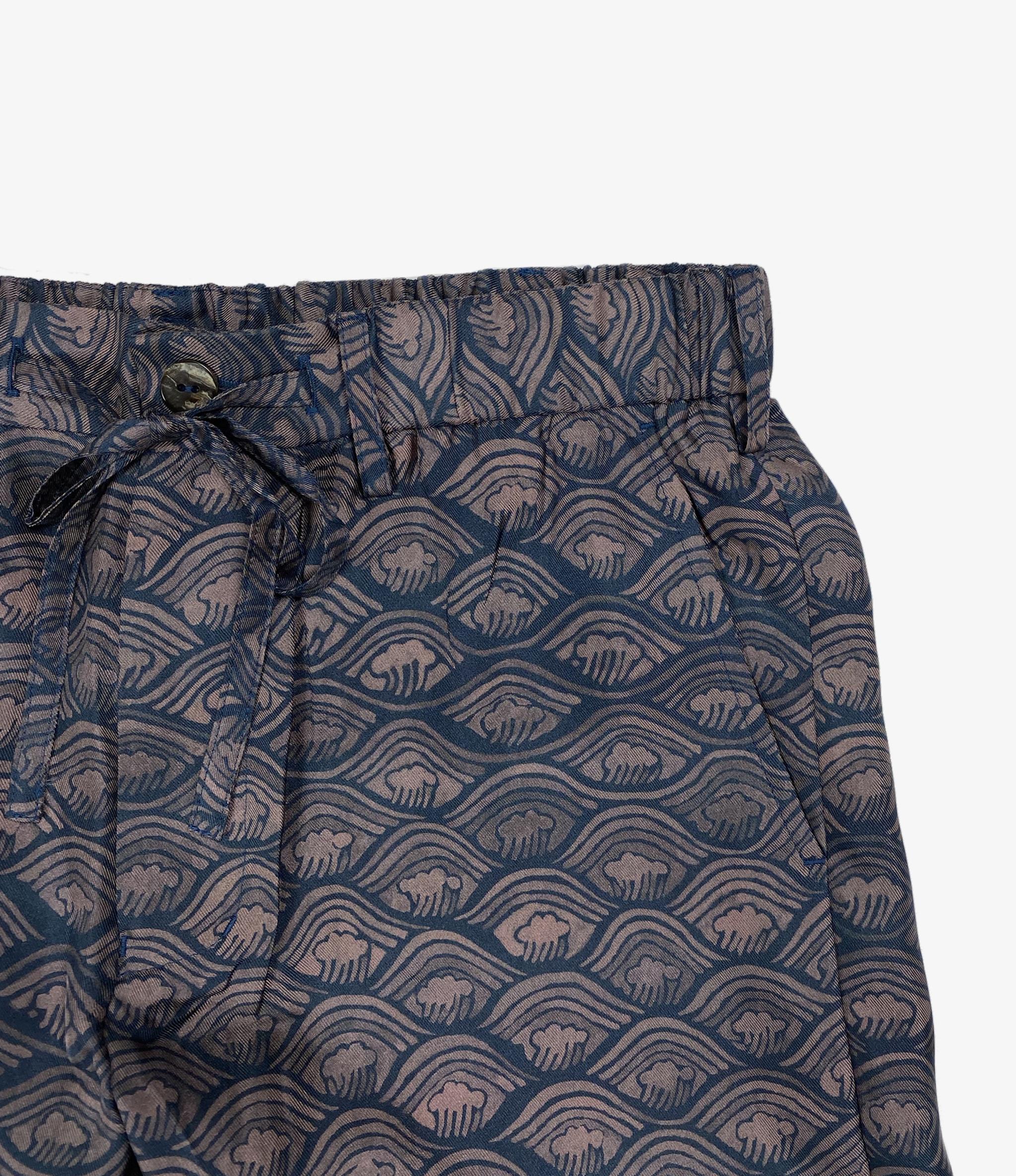Wang Chomphu Silk String Short / Kang Keag Sant - Siam Wave Pattern