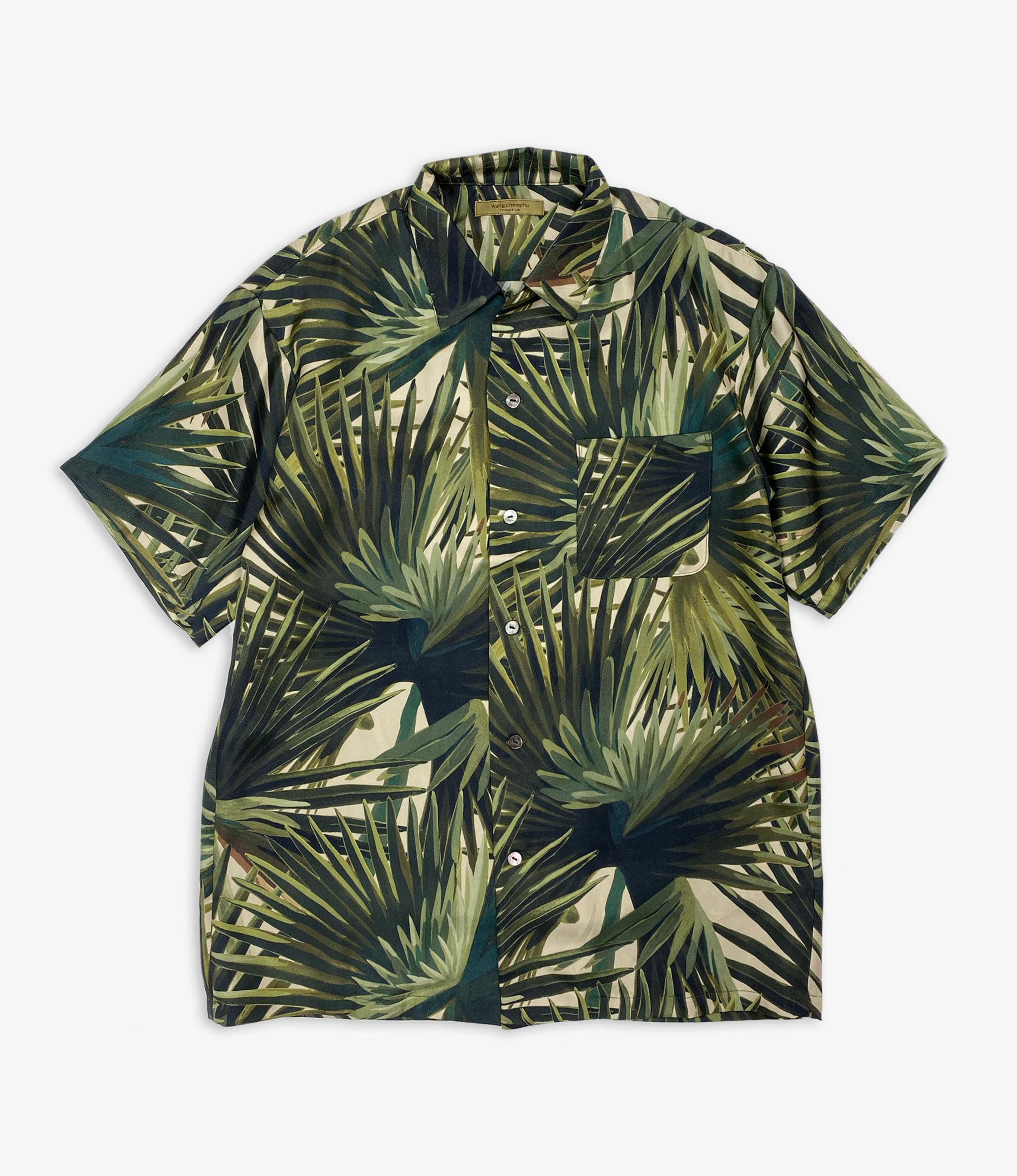 Wang Chomphu Silk SS Shirt / Pokcorpaa Sant - Borassus Flabellifer