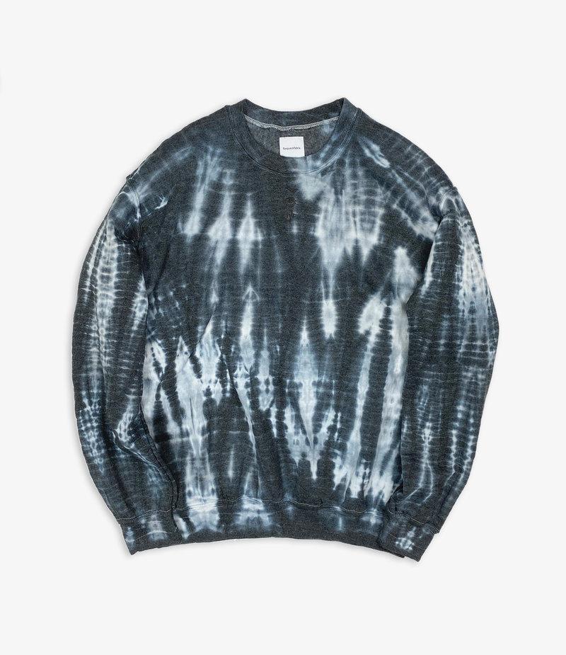Sasquatchfabrix. Oriental Tie Dye Sweat Shirt - Black/White