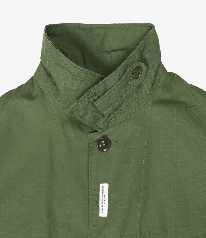 Engineered Garments Work Jacket  - Olive Cotton Ripstop