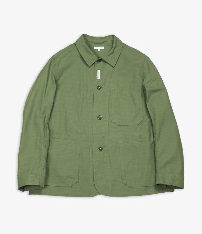 Engineered Garments Work Jacket  - Olive Cotton Ripstop