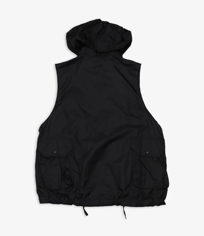 Engineered Garments Field Vest - Black Nylon Micro Ripstop