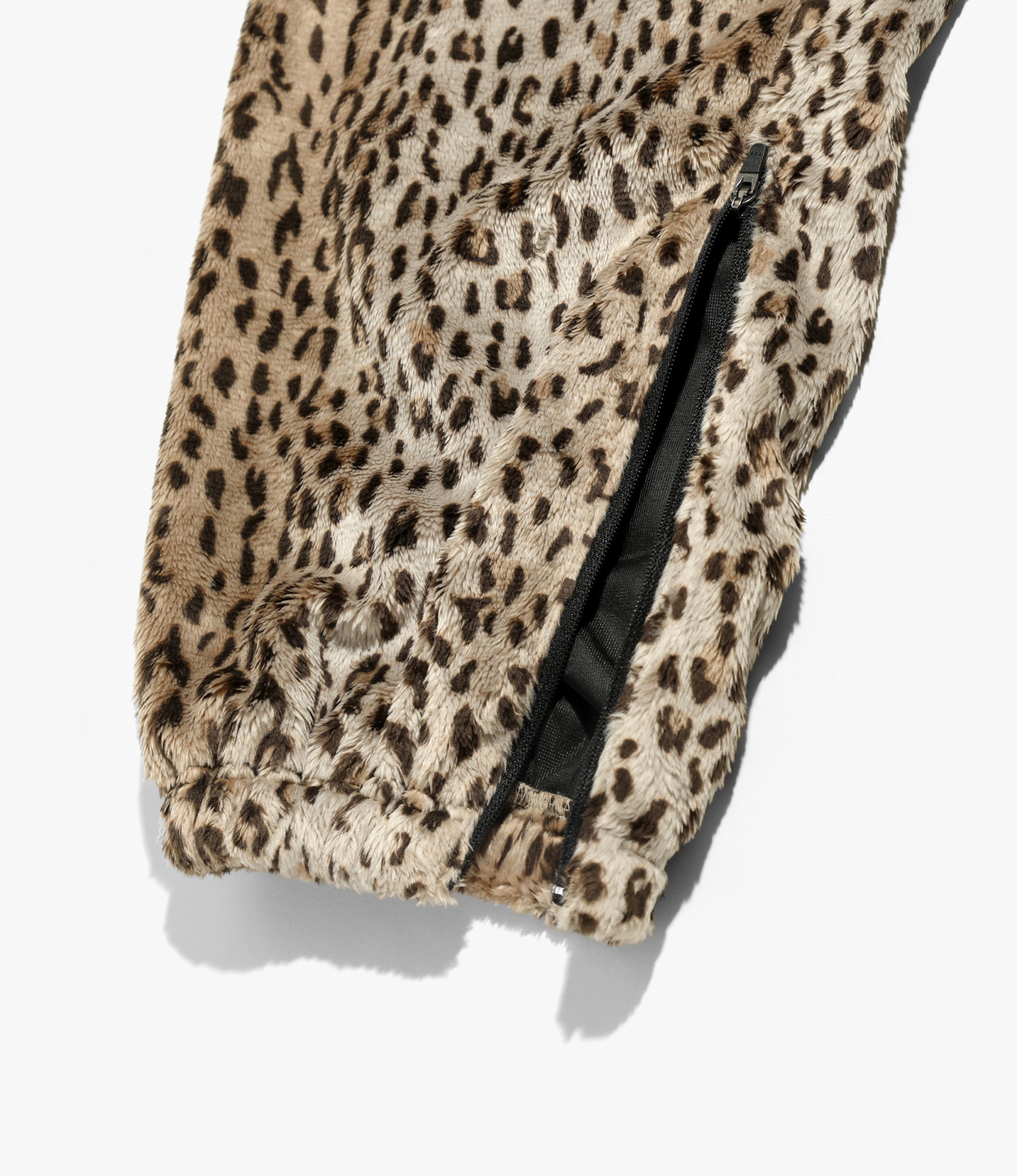 Needles Zipped Warm - Up Pant - Faux Fur - Leopard