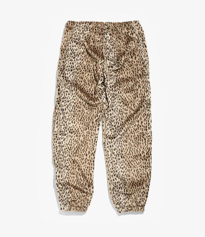 Needles Zipped Warm - Up Pant - Faux Fur - Leopard