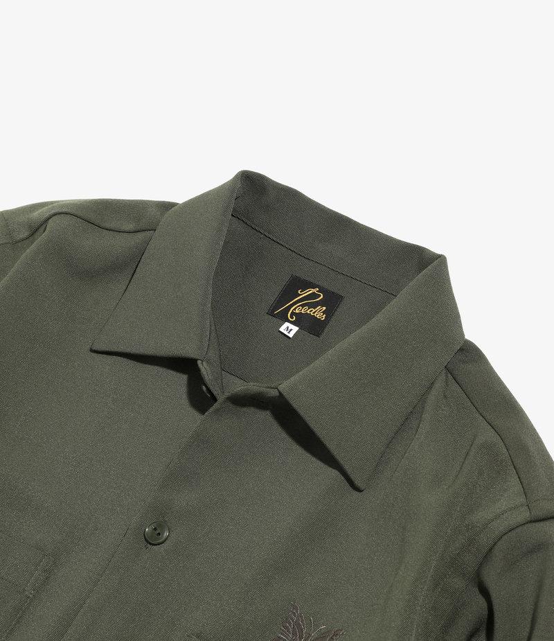 Needles Cut Off Bottom One-Up Shirt - Pe/W Doeskin - OLIVE