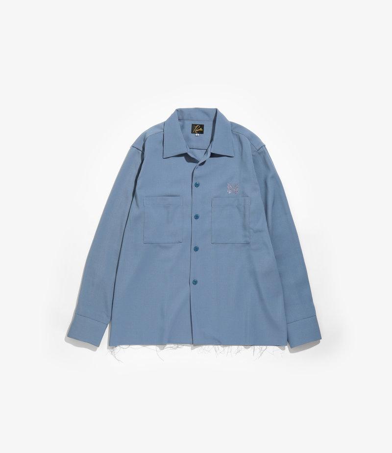Needles Cut Off Bottom One-Up Shirt - Pe/W Doeskin - SAX