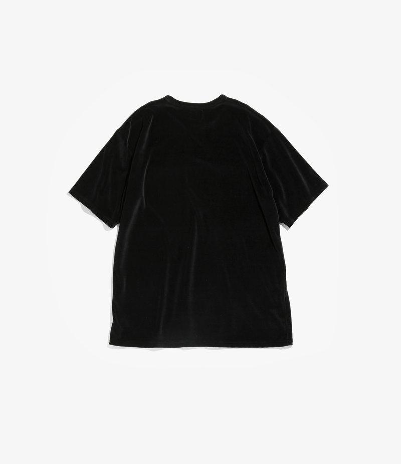 Needles Short Sleeve Pocket Tee - C/Pe Velour - Black