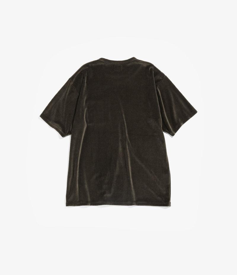 Needles Short Sleeve Pocket Tee - C/Pe Velour - Olive