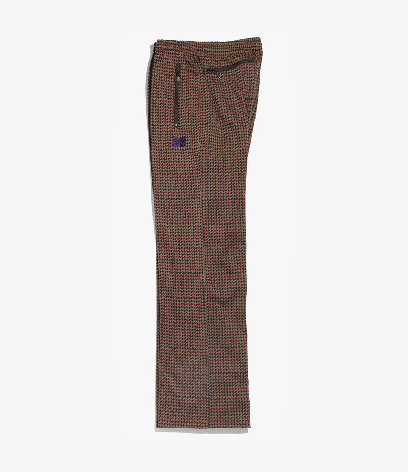 Needles Track Pant - Poly Jacquard - Houndstooth