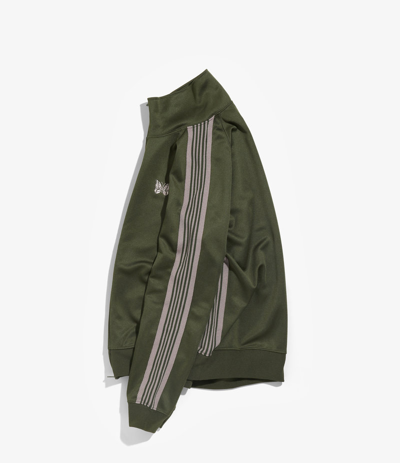 Needles Track Jacket - Poly Smooth Olive