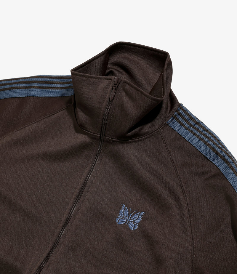 Needles Track Jacket - Poly Smooth Brown