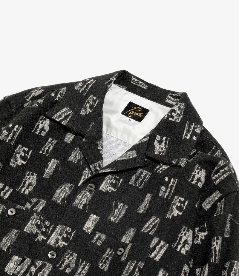 Needles Cut Off Bottom Classic Shirt - W/N Melton / Pt - Blush Black