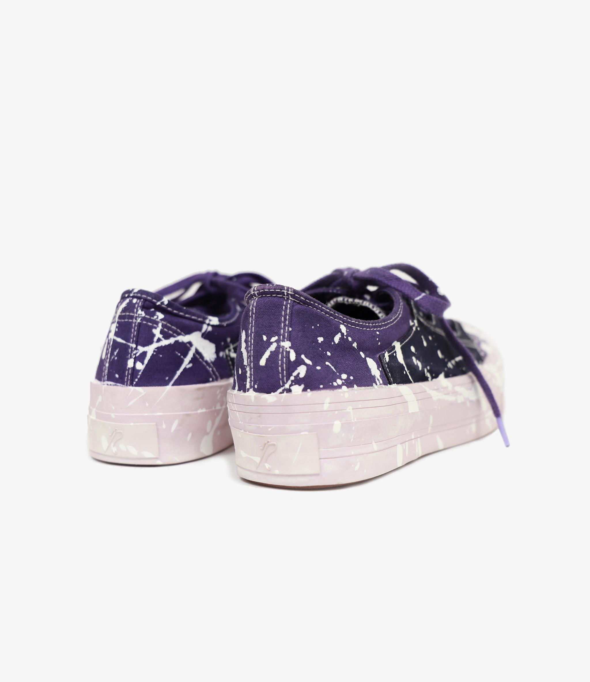 Needles Asymmetric Ghillie Sneaker - Ppl W/Wht Paint