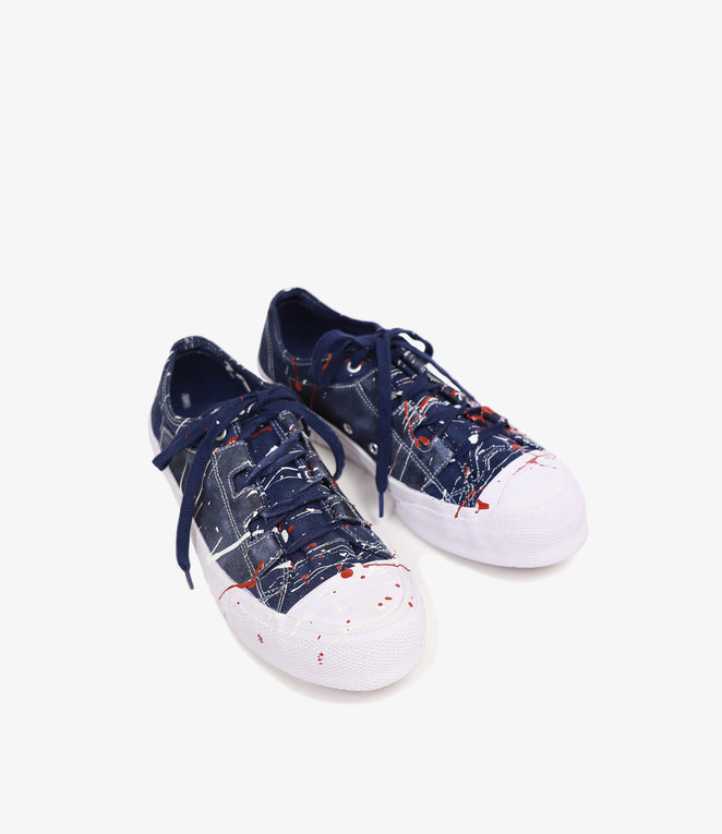 Needles Assymetric Ghillie Sneaker - Over Dye/Paint