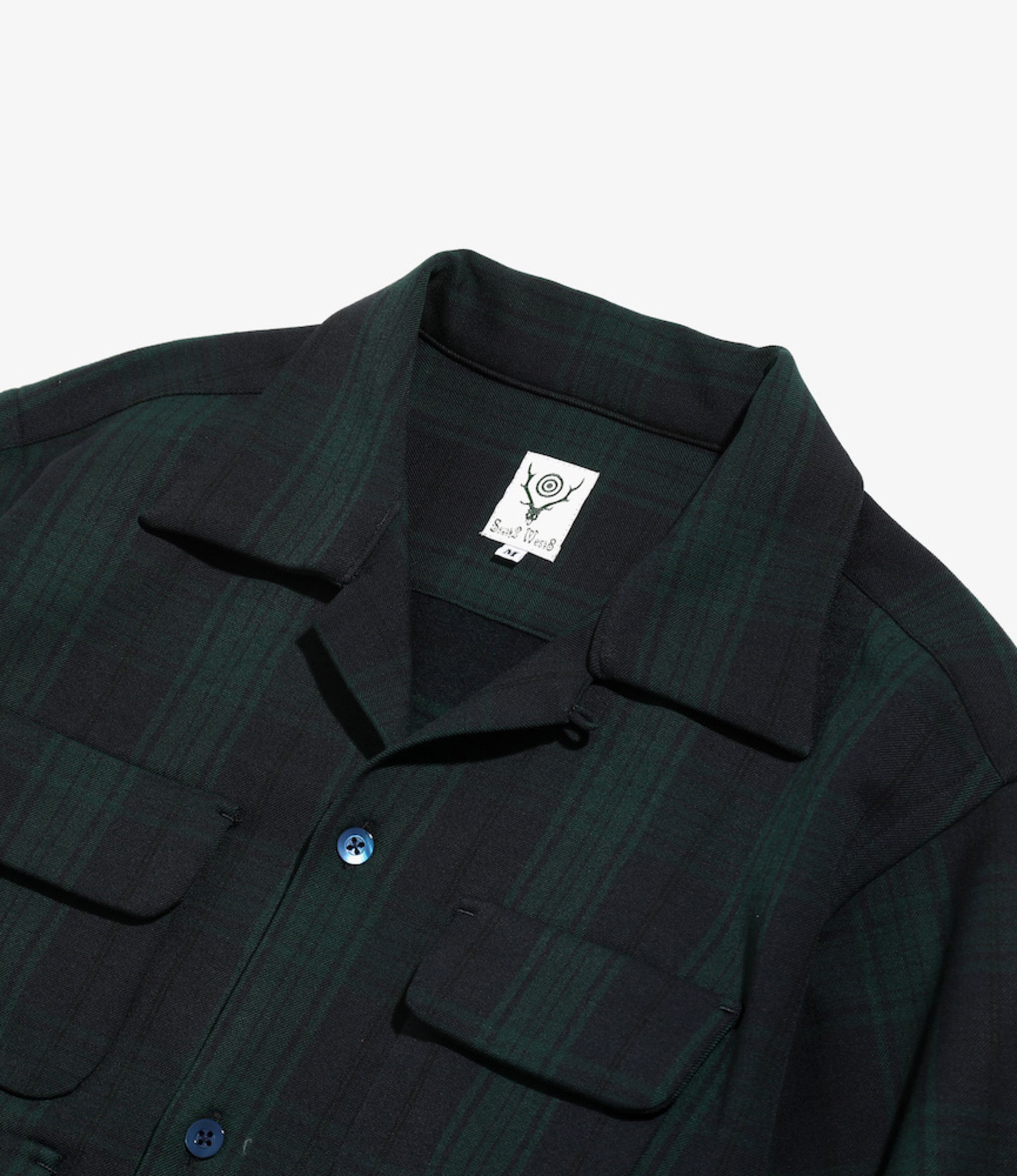 South2 West8 6 Pocket Classic Shirt - Blackwatch - Green / Navy