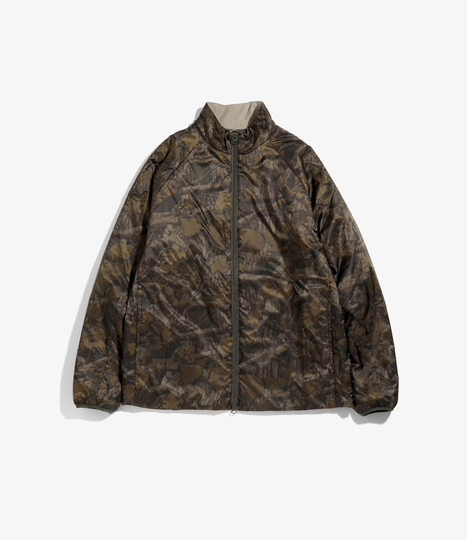 South2 West8 Zipped Filling Jacket - Nylon Taffeta - Olive