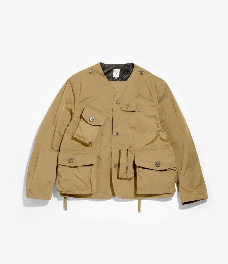 South2 West8 S2 799A > Tenkara Shirt - Poly Gabardine - Khaki