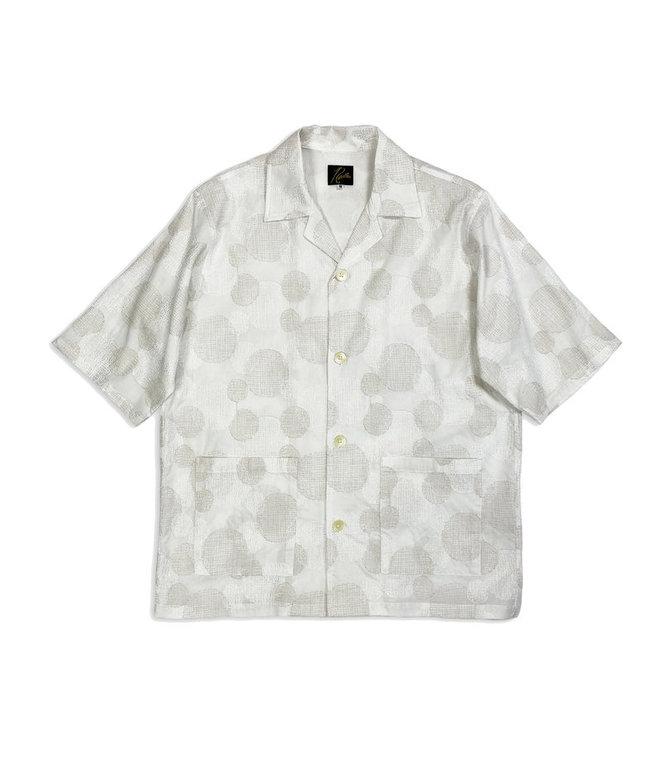 Needles Cabana Shirt - Cotton Cloth / Polka Dot Emb. - Off White