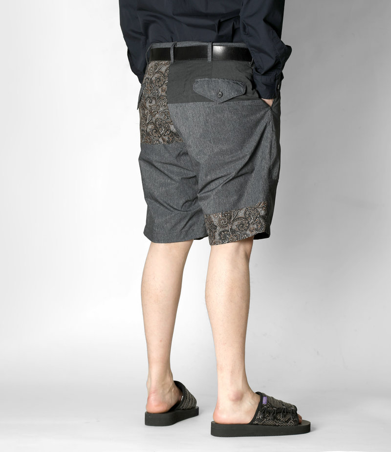 Engineered Garments Ghurka Short - Heather Charcoal Polyester Microfiber