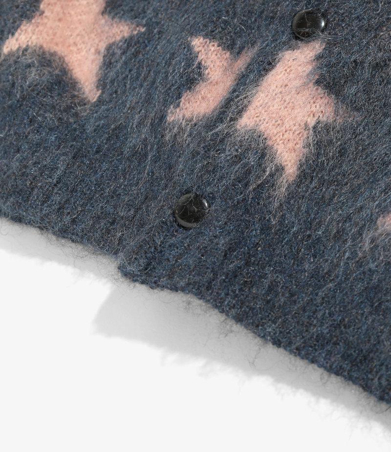 Needles Mohair Cardigan - Star - Blue Grey