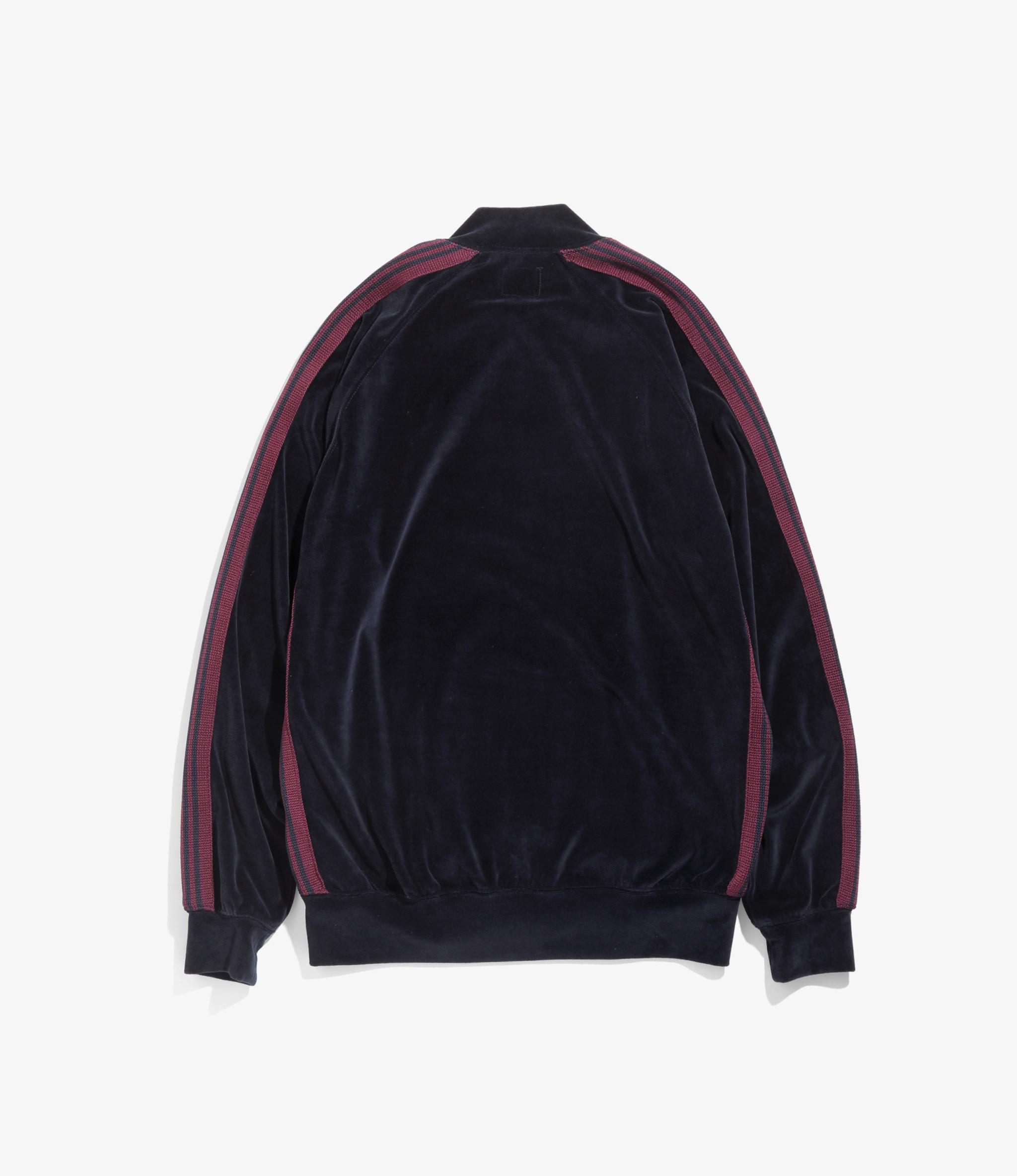 Needles Rib Collar Track Jacket - C/Pe Velour - Navy