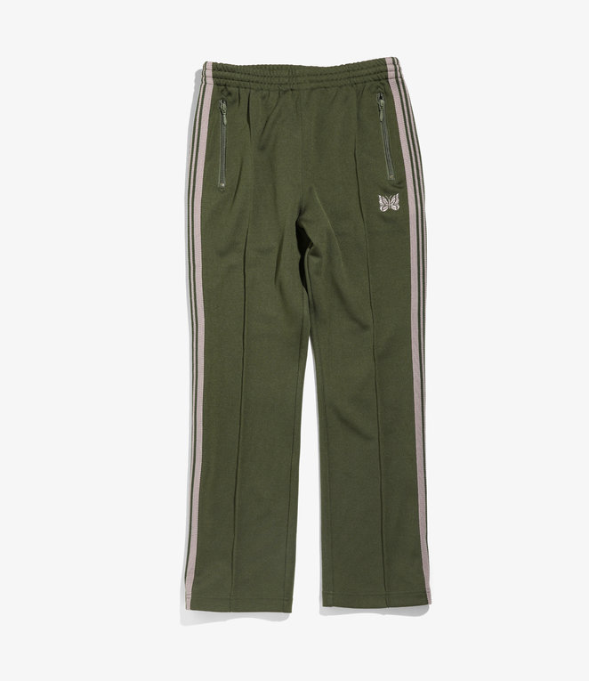 Needles Narrow Track Pant - Poly Smooth - Olive
