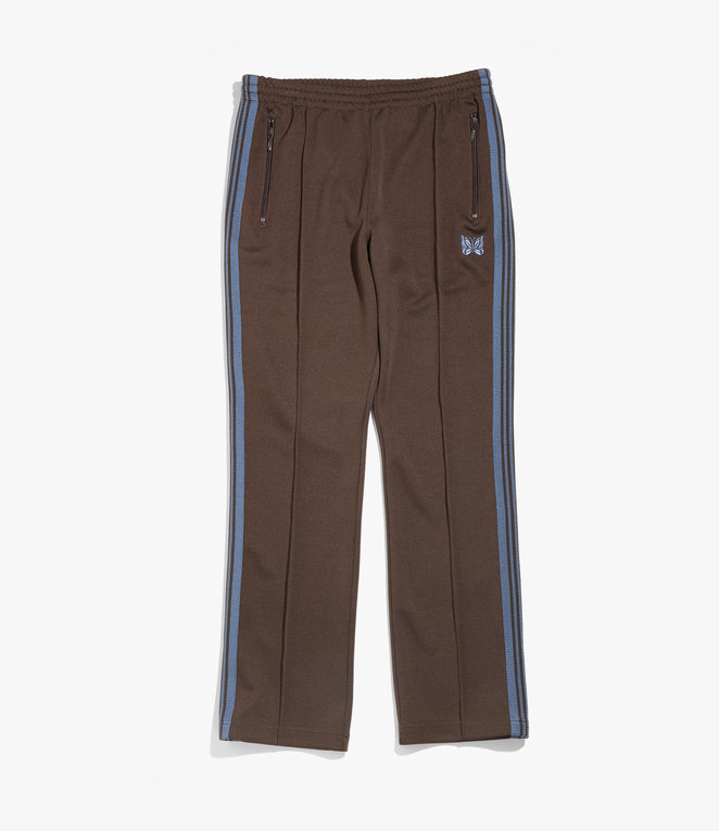Needles Narrow Track Pant - Poly Smooth - Brown